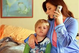 Mom with Call MD Child